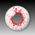 BLOODSHOT DROPS - Power! - party hall contact lenses