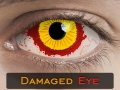 DAMAGED EYE  SCLERA 22mm - Crazy & Fun Halloween