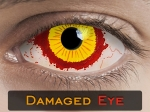 DAMAGED EYE SCLERA 22mm - Crazy & Fun Halloween Kontaktlinsen