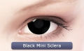BLACK MINI SCLERA 17 mm - Crazy & Fun Contact Lenses
