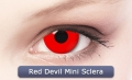RED DEVIL MINI SCLERA 17mm - Farbige Crazy & Fun Kontaktlinsen