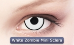 WHITE ZOMBIE MINI SCLERA 17 mm - Crazy & Fun Contact Lenses