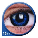 Cool Blue 15 mm - Farbige Kontaktlinsen Big Eyes