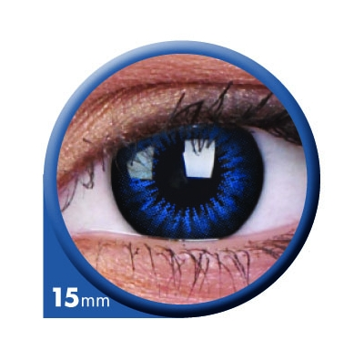 Cool Blue 15 mm - Coloured contact lenses Big Eyes