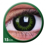 Party Green 15 mm - Farbige Kontaktlinsen Big Eyes
