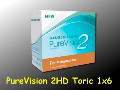 PureVision 2 HD for Astigmatism (Toric) -  Bausch & Lomb - 1 x 6 pieces