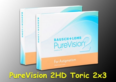 PureVision 2 HD for Astigmatism (Toric) -  Bausch & Lomb - 2 x 3 pieces