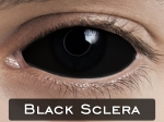 BLACK SCLERA 22mm - Crazy & Fun Halloween Kontaktlinsen