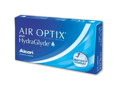 Air Optix Plus HydraGlyde 6 pieces - breathable contact lenses Alcon